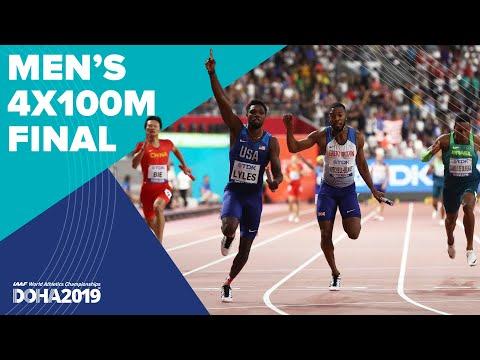 Men's 4x100m Relay Final   World Athletics Championships Doha 2019