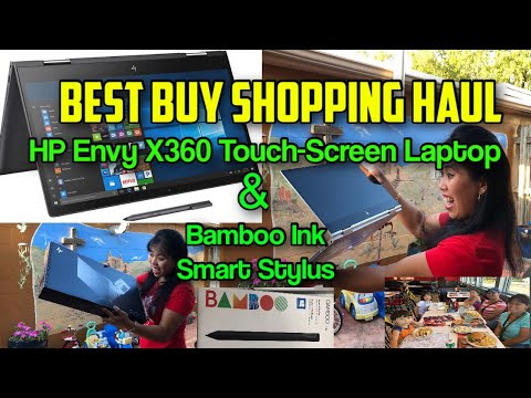 BEST BUY SHOPPING HAUL HP ENVY X360 TOUCH-SCREEN LAPTOP | BAMBOO INK SMART STYLUS