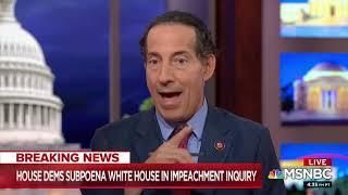 MSNBC - Raskin Discusses Impeachment Inquiry, House Rules