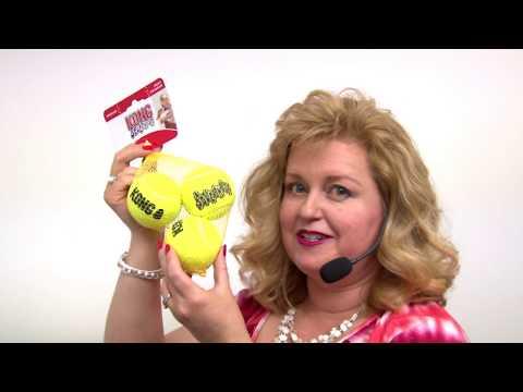 KONG AirDog Squeakair Ball 3-Pack