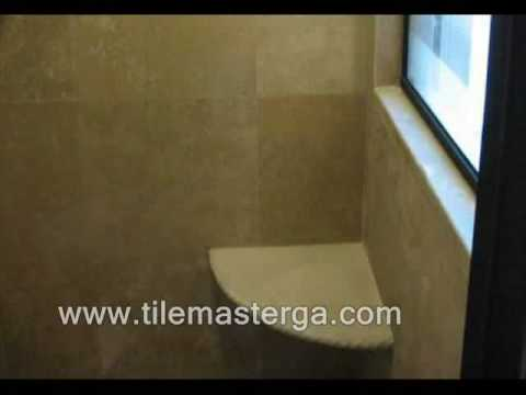 How to - Built in Shower corner seat - bench installation bathroom ...