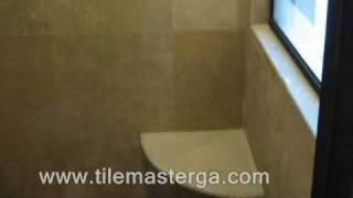 How To - Built In Shower Corner Seat - Bench Installation Bathroom  Tile