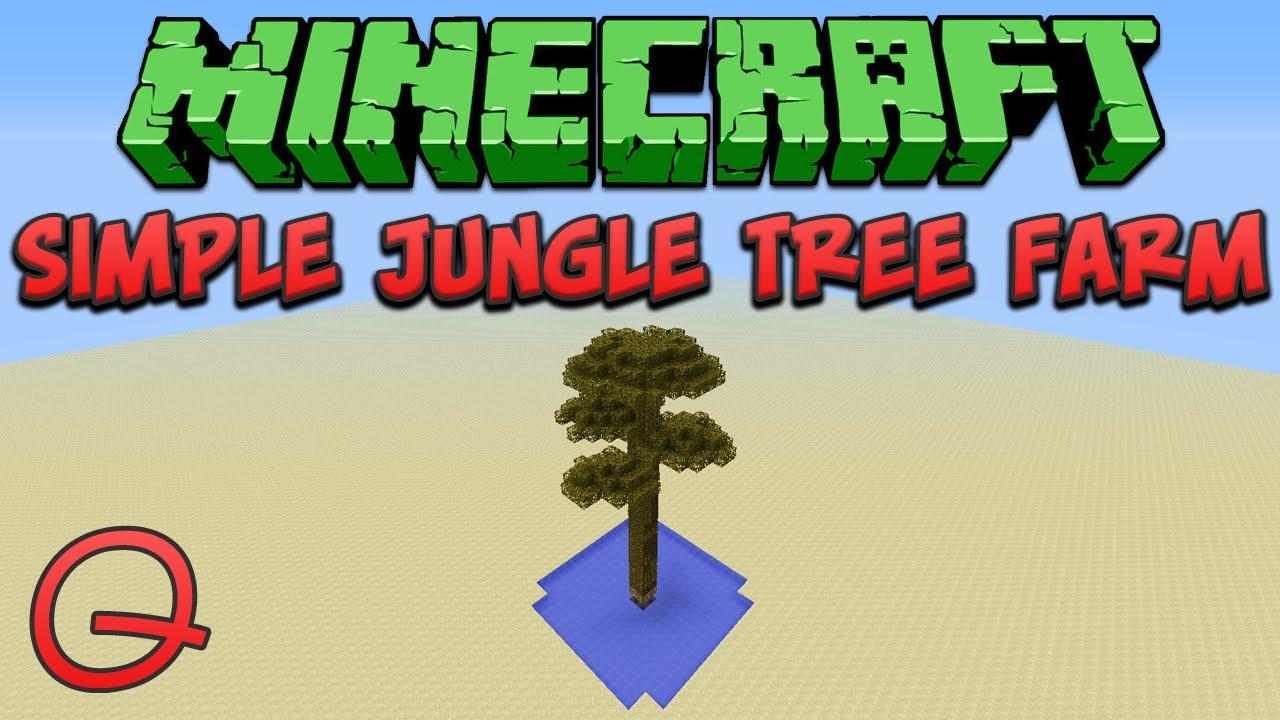 minecraft giant jungle tree farm