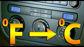 TUTORIAL: Cum treci din Fahrenheit in grade Celsius VW Golf 5, Jetta, Passat, Scirocco