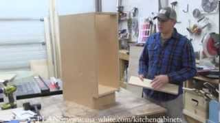 Easy tutorial to build your own kitchen cabinet carcass with pocket holes.