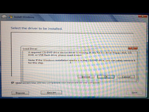 USB Windows 7 Installation A Required CD/DVD drive device ...