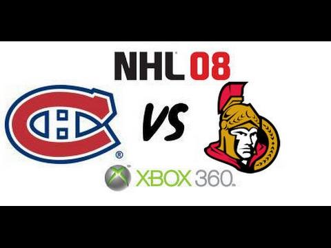 NHL 08 - Montreal Canadiens vs Ottawa Senators