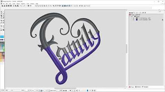Embroidery And Digitizing With Melco Machines And Melco Designshop Youtube
