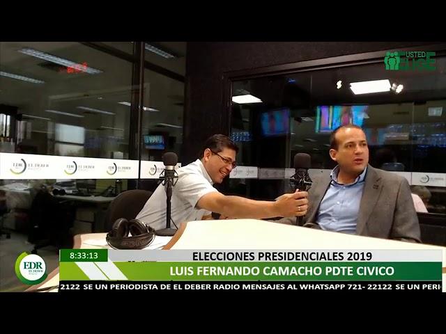 Entrevista a Luis Fernando Camacho, en Radio El DEBER