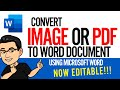 Convert Image to Word Document using Microsoft Word