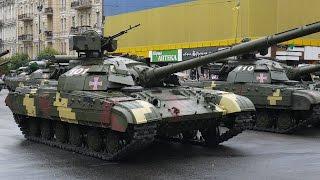 Киев,  Крещатик.  Военный Парад.  Проход военной техники.  24 августа 2016
