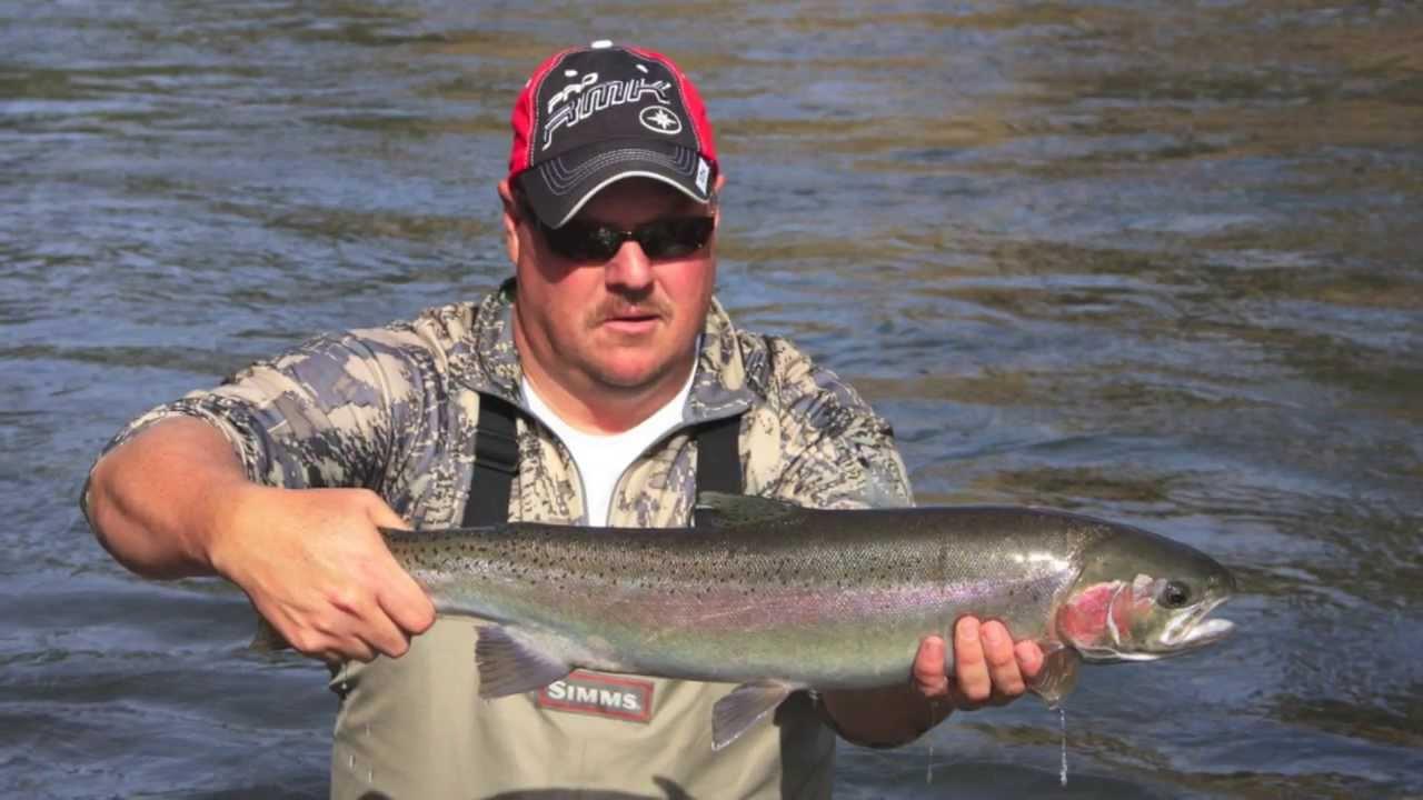 Steelhead fishing on the klickitat river youtube for Klickitat river fishing report