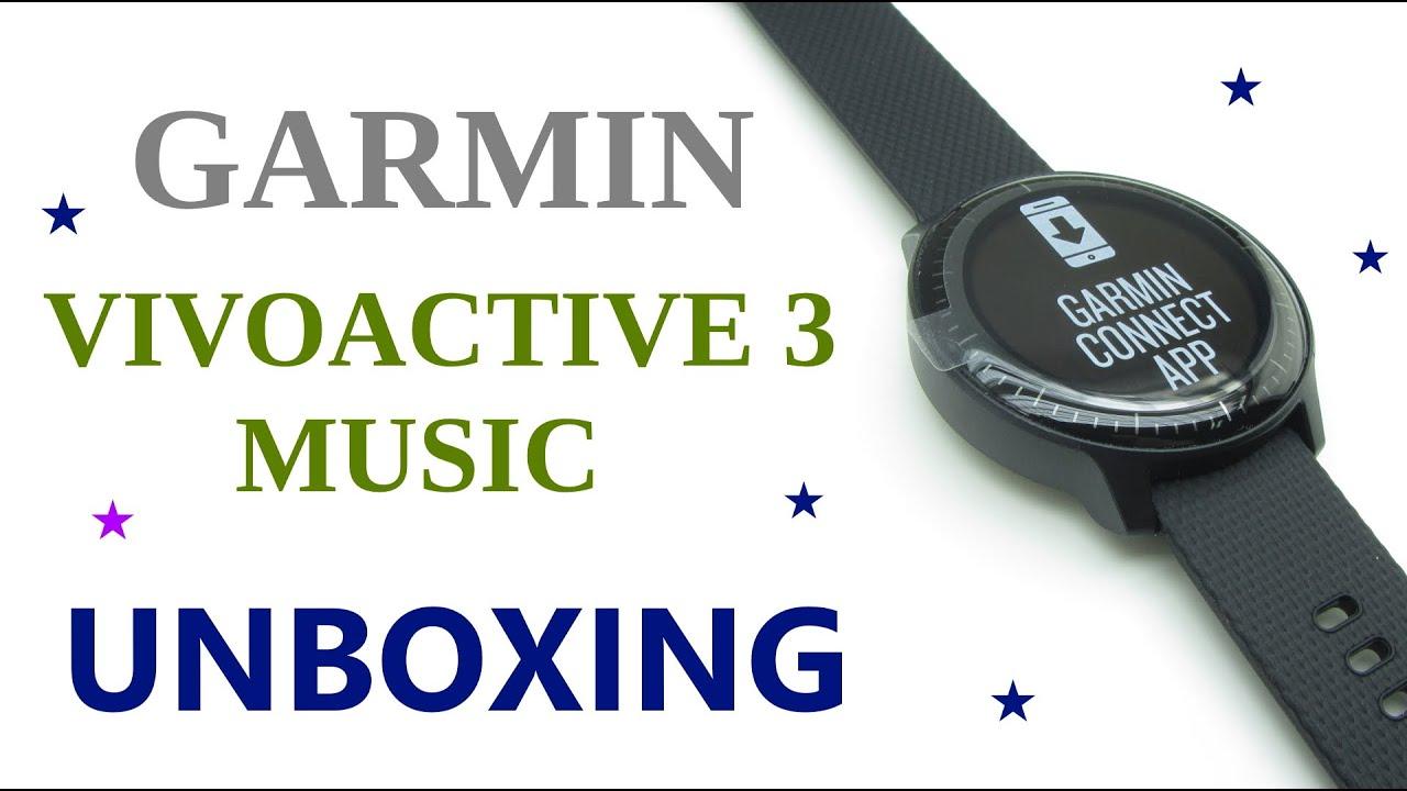 0274083b72ec Garmin Vivoactive 3 Music Black Unboxing HD (010-01985-03) - YouTube