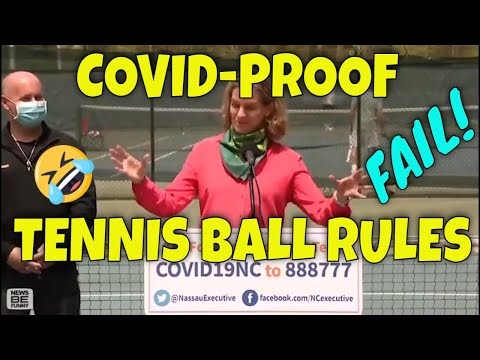 "COVID-Proof Tennis Balls: ""You can Kick Their Balls, but You Can't Touch Them"" (Laugh"