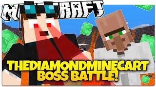 Minecraft | THEDIAMONDMINECART BOSS BATTLE! | Emerald Bombs, Lasers, & More! (Minecraft Custom Map)
