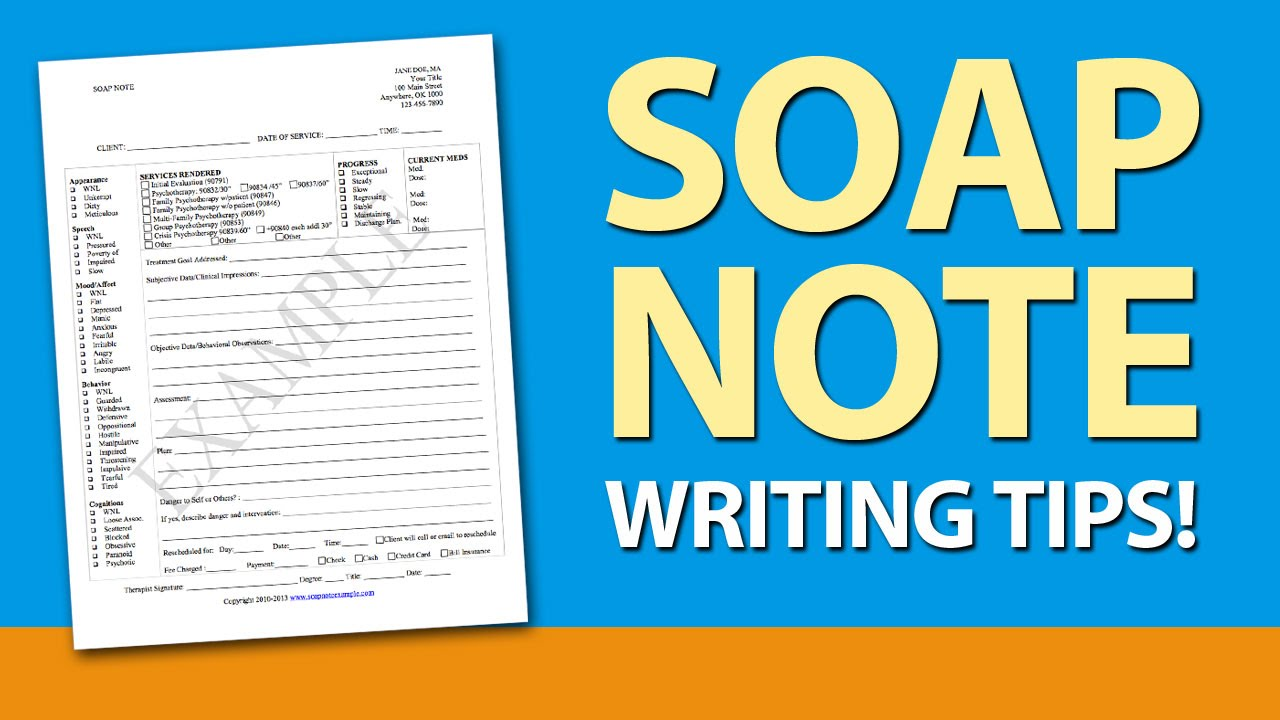 SOAP Note Writing Tips for Mental Health Counselors - YouTube