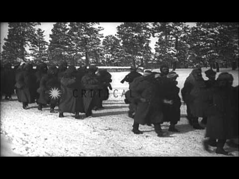 Russian troops maneuver to outflank Turks  in the Caucasus Campaign of World War ...HD Stock Footage
