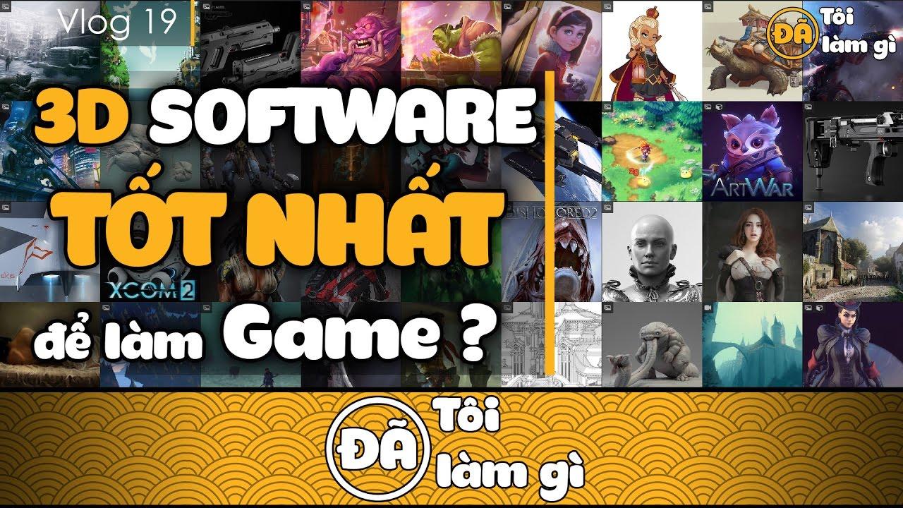 Phần mềm 3D TỐT NHẤT để HỌC và LÀM 3D Game? | Lê Thế Bình