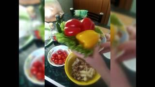 Салат из морского коктейля🍲