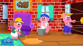 The Three Little Pigs: BIG BAD WOLF IS BACK! Animated Stories for Kids | Story Time with Ms. Booksy