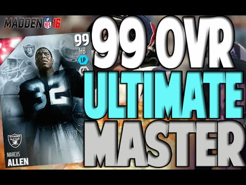 99 OVERALL!! ULTIMATE MASTER MARCUS ALLEN COMPLETE   MADDEN 16 ULTIMATE TEAM PACK OPENING