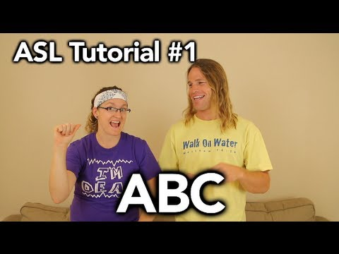 ABC ( finger spell ) - #1 American Sign Language Tutorial
