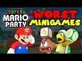 Top 10 WORST Super Mario Party MINIGAMES!
