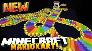 MARIO KART IN MINECRAFT 1.9! | (Epic Power Ups, New Levels & Custom Boats)