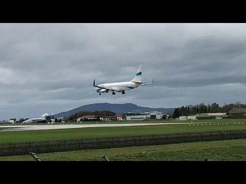 Plane aborts bumpy landing in Austria storm