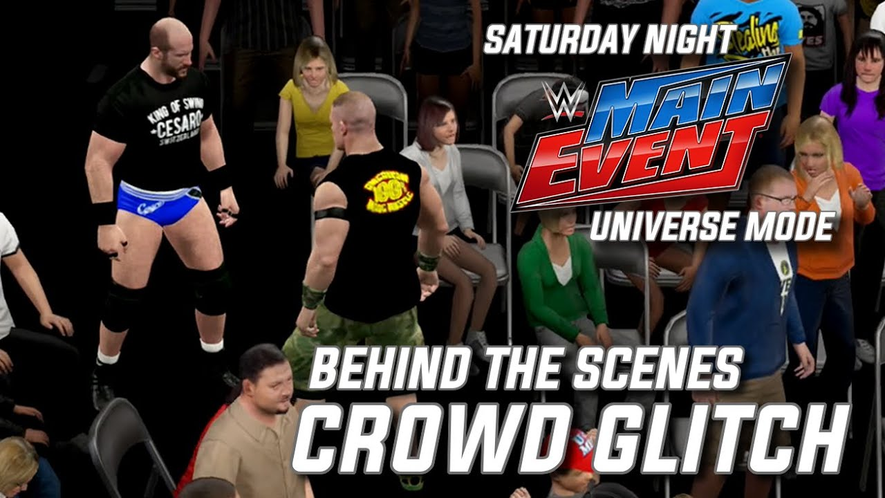 WWE 2K15 Universe Mode - SNME Behind the Scenes: Crowd Glitch