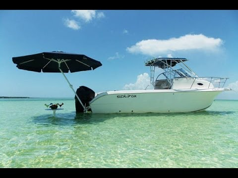 How to set up umbrellas 4 boats youtube for Boat umbrellas fishing