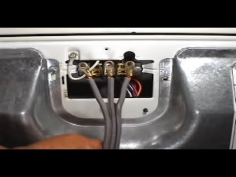 3 prongs cord installing Whirlpool 29 inch electric dryer - YouTube