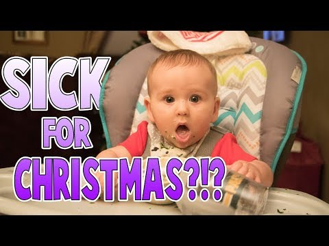 First Christmas WE'RE SICK 🤧  | Family Baby Vlogs