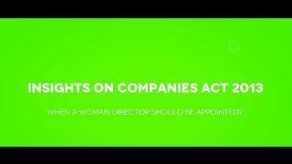 When a Company Should Appoint Woman Director?