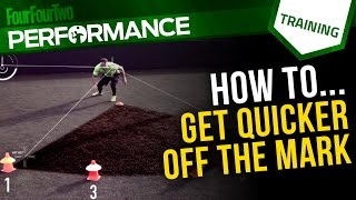 Speed for soccer | Acceleration and deceleration drill for football