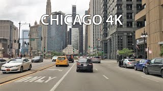 Chicago 4k - Downtown Skyscraper Drive - Usa