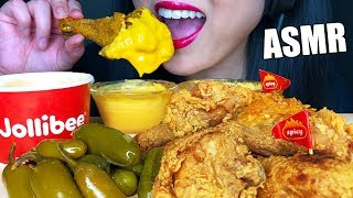 ASMR CHEESY SPICY FRIED CHICKEN TAG *Jollibee* (Zach Choi ASMR) No Talking | ASMR Phan