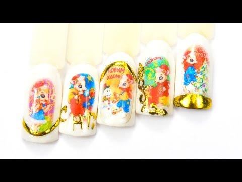 Термотрансферный дизайн ногтей  Фото на ногтях в домашних условиях