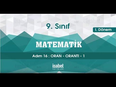 9. Sınıf Matematik – Ders 16 – Oran Orantı 2