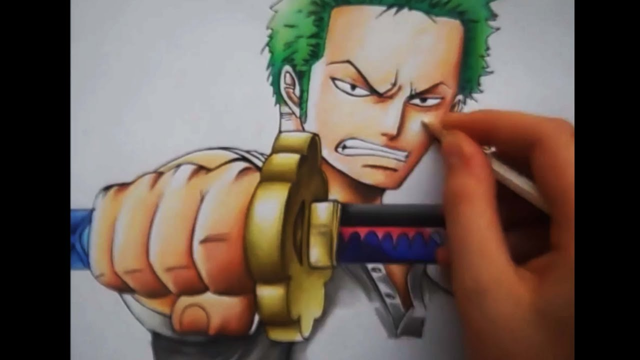Drawing Zoro From One Piece
