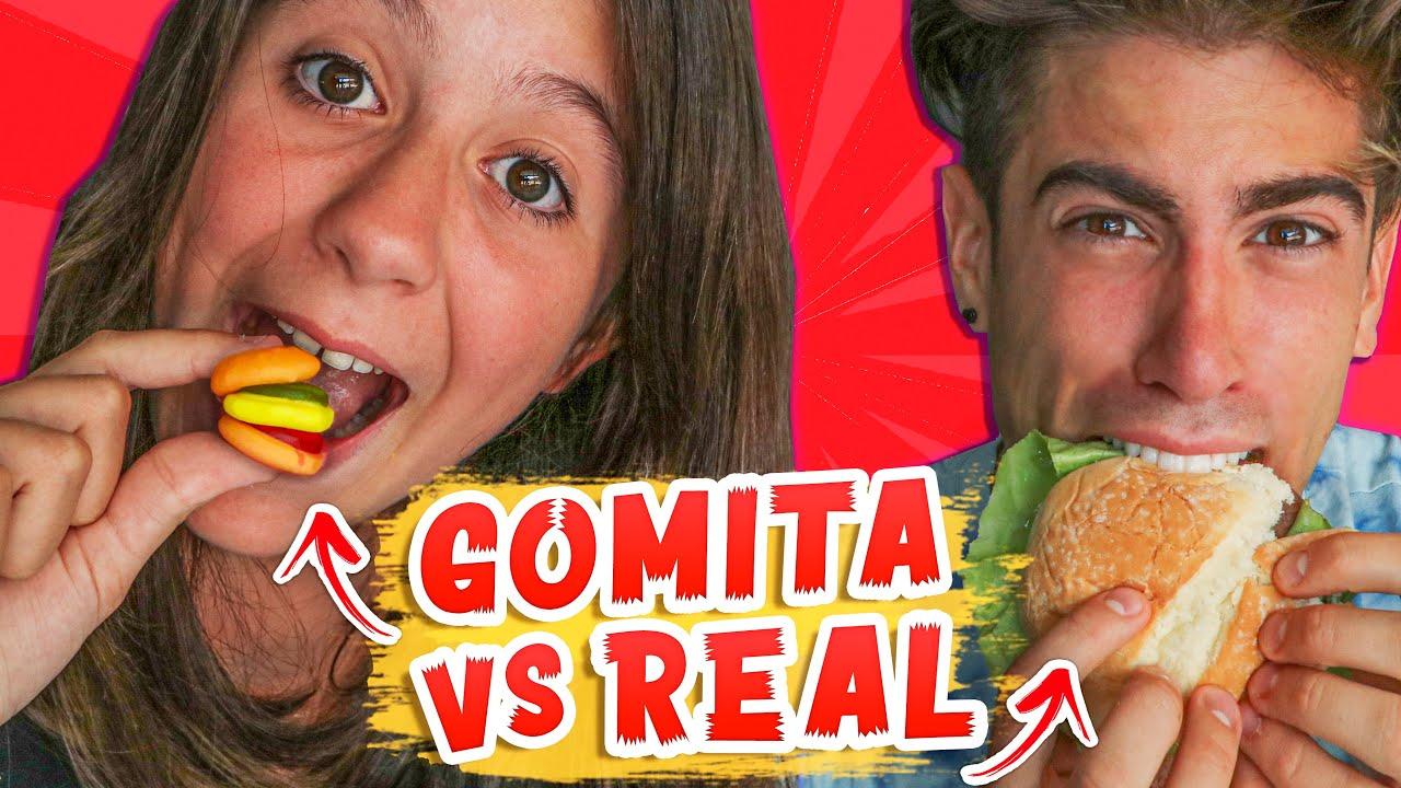 COMIDA DE GOMITA vs COMIDA REAL 🍔 🍭 CON ALEJO IGOA !!