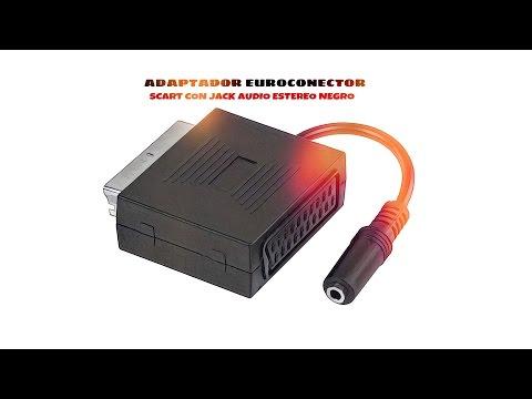 Video de Adaptador SCART con jack audio estereo  Negro