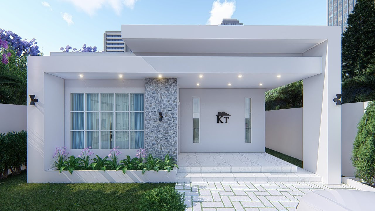 small house design [8x13m] house plan with 104 sqm floor area
