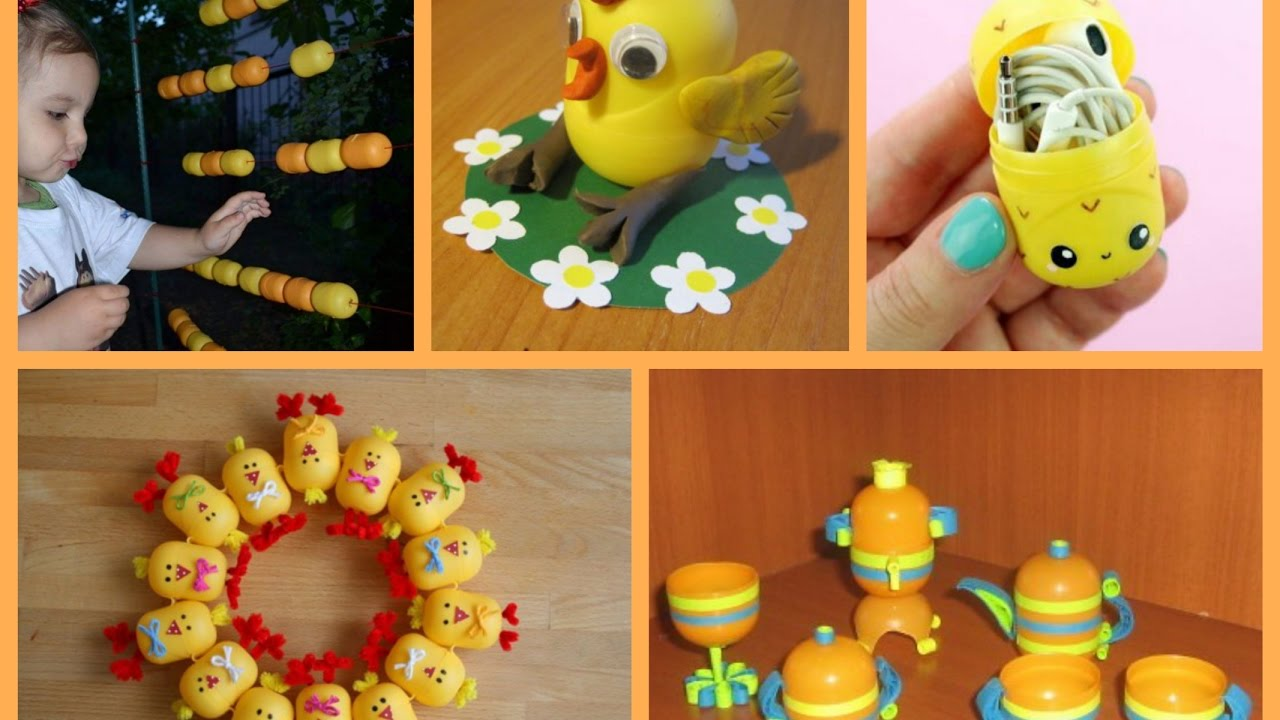 Recycled Kinder Eggs Crafts Ideas Kids Crafts To Make With Kinder