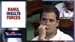 Is Rahul Gandhi disrespecting Forces after Lok Sabha defeat? | The Newshour Debate (20 Jun)