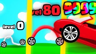 Draw Car 3D ALL LEVELS, FASTEST CAR DRAWING EVOLUTION? (9999+ UPGRADE LEVEL RACE) l Draw Car 3D