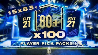 4 TOTS IN 1 PACK!!! 100 x PLAYER PICK PACKS & 15 x 83+ RARE PLAYER 25 PACKS!!! FIFA 21
