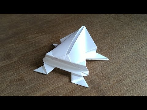 How to make a high jumping Paper Frog Origami
