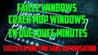 CRACK MOT DE PASSE WINDOWS  FACILEMENT