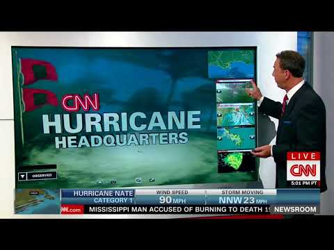 Hurricane Nate Crashes Into The Gulf Coast